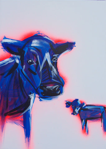 Cows painting