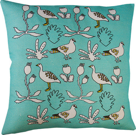 Urban Forest cushion cover in mint