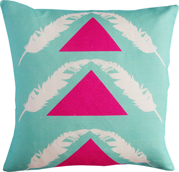 Feather Pyramids cushion cover