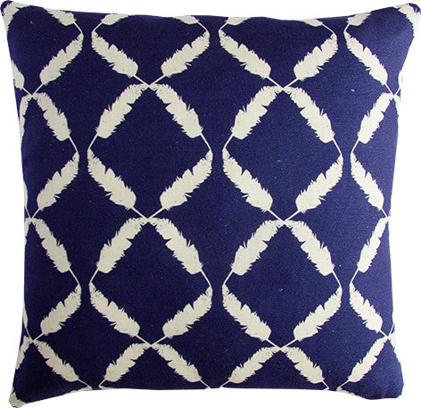 Feather Trellis midnight cushion cover