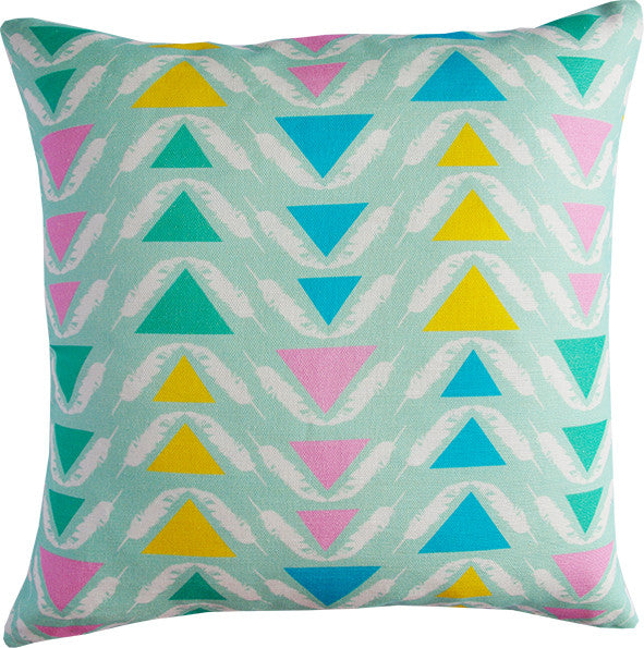 Feather Triangles cushion cover