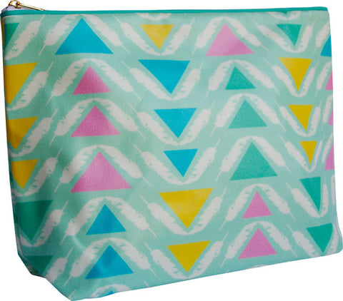 Feather Triangles large wash bag