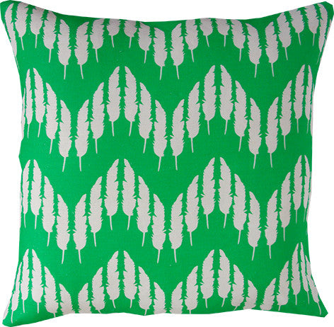 Feather Zig Zag cushion cover in emerald