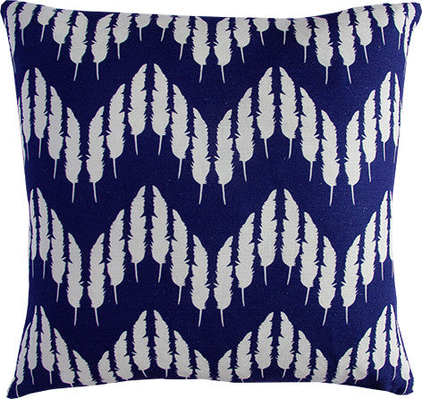Feather Zig Zag in Midnight