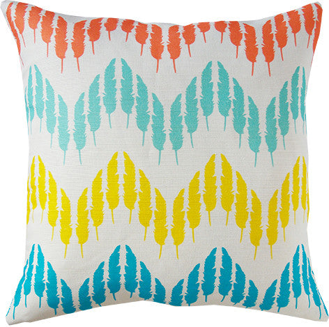 Feather Zig Zag cushion cover in multi-colours