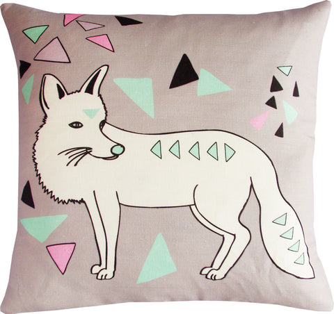 Foxy Taupe cushion cover