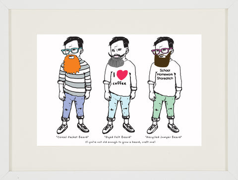 Hipster Kids with D.I.Y Beards