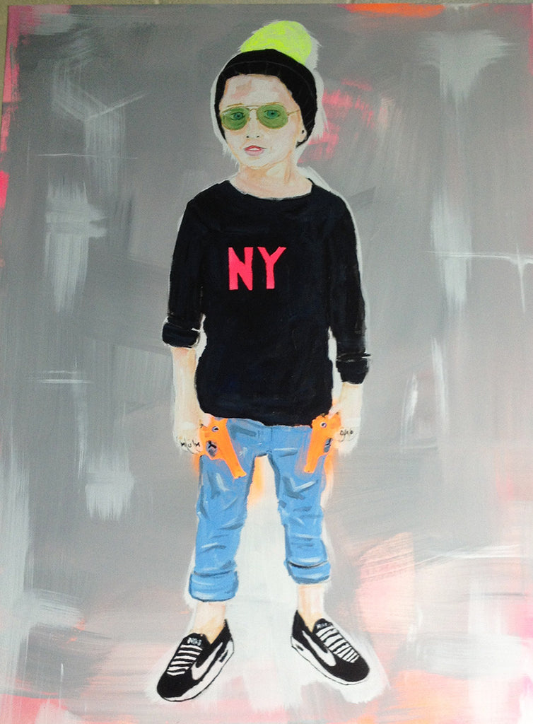 Hipster Kid painting