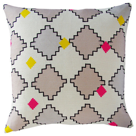 Kilim cushion cover in pebble