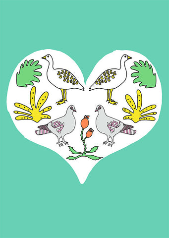 'Love Nature' set of 5 greetings cards