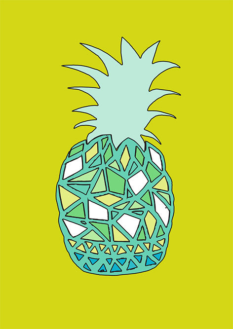 'Pineapple' set of 5 greetings cards
