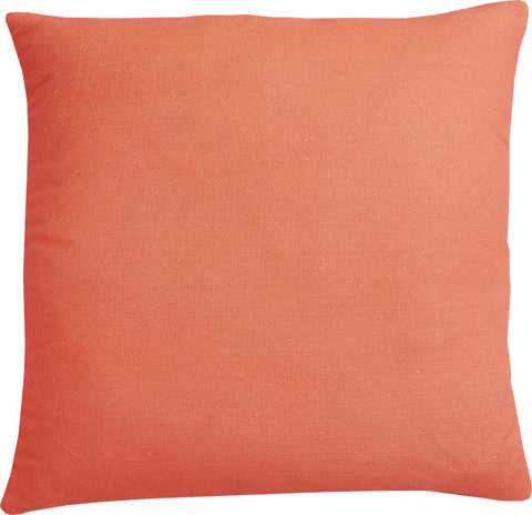 Plain Coral cushion cover