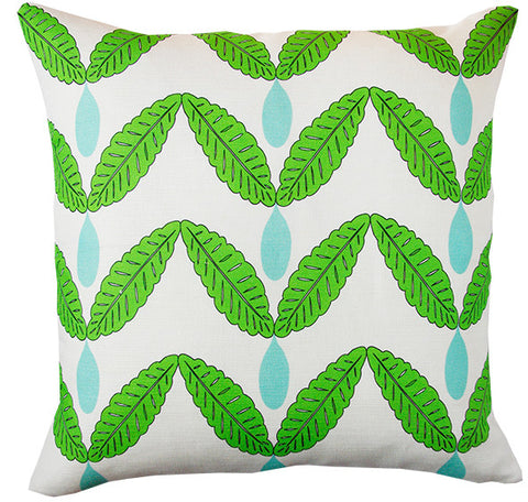 Rain Catcher in leaf green cushion cover