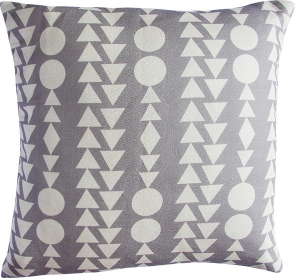 Shape Columns taupe cushion cover