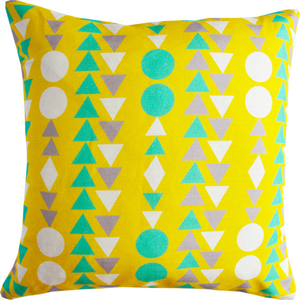 Shape Columns yellow cushion cover