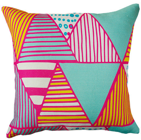 Wigwam cushion cover in hot pink
