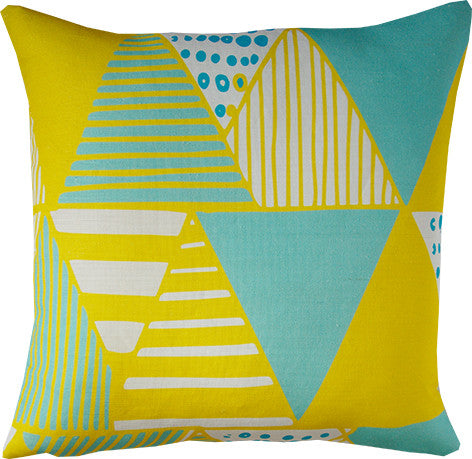 Wigwam cushion cover in yellow