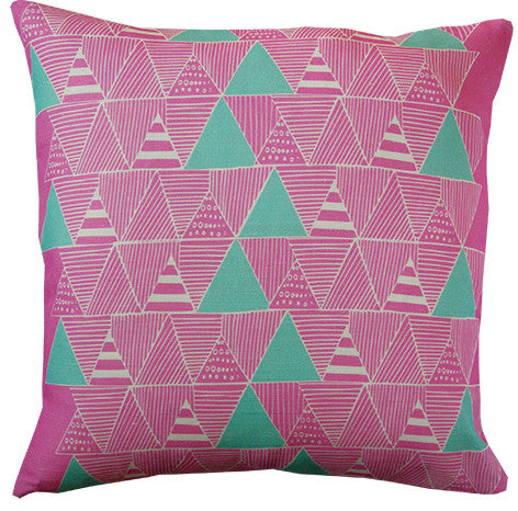 Zulu Huts cushion cover in lilac