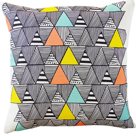 Zulu Huts cushion cover in multi-colours