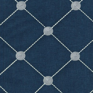 550071 Fanfare Emb Indigo Kelly Ripa Decorator Fabric by PK Lifestyles, Upholstery, Drapery, Home Accent, P/K Lifestyles,  Savvy Swatch