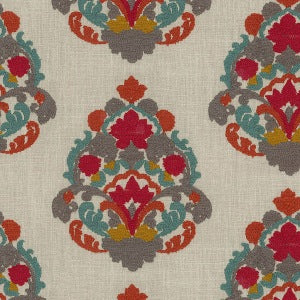 654191 Folk Lure Emb Jewel Decorator Fabric by Waverly, Upholstery, Drapery, Home Accent, Waverly,  Savvy Swatch