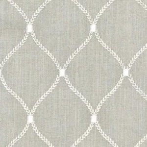 Williamsburg Deane Embroidery Flint Decorator Fabric by Waverly, Upholstery, Drapery, Home Accent, Waverly,  Savvy Swatch