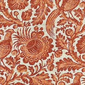 Tucker Resist Cinnamon 750332 by Waverly Williamsburg Fabric