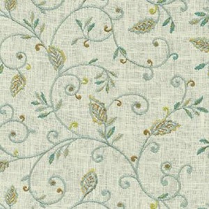 900013 Kalia Embroidery Green Tea Decorator Fabric by PK Lifestyles, Upholstery, Drapery, Home Accent, P/K Lifestyles,  Savvy Swatch