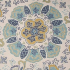 Argunov in Aqua Tapestry Upholstery Decorator Fabric by Mill Creek, Upholstery, Drapery, Home Accent, Swavelle Millcreek,  Savvy Swatch