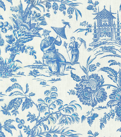 Asian Arcadia Sapphire 750371 by P Kaufmann, Upholstery, Drapery, Home Accent, P Kaufmann,  Savvy Swatch
