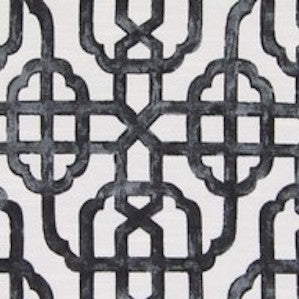 Greenhouse B6006 Imperial Charcoal Geometric Lattice Fabric