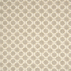 Greenhouse B6401 Alloy Neutral Medallion Fabric