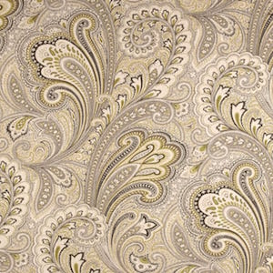 Richloom Barilla Printed Cotton Linen Drapery Fabric in Greystone