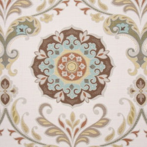 Barossa - Madden Printed Cotton Decorator Fabric in Nordic Ice by Mill Creek, Upholstery, Drapery, Home Accent, Swavelle Millcreek,  Savvy Swatch