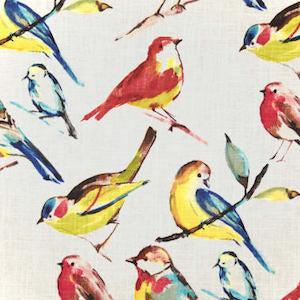 Richloom Birdwatcher Summer Fabric, Upholstery, Drapery, Home Accent, TNT,  Savvy Swatch