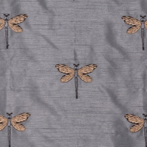 Volare in Lake Embroidered Poly Taffeta Decorator Fabric by Bravo, Upholstery, Drapery, Home Accent, Bravo,  Savvy Swatch