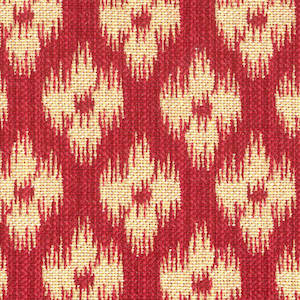 Chester Antique Red Covington Fabric Red & Tan Ikat Fabric, Upholstery, Drapery, Home Accent, Covington,  Savvy Swatch