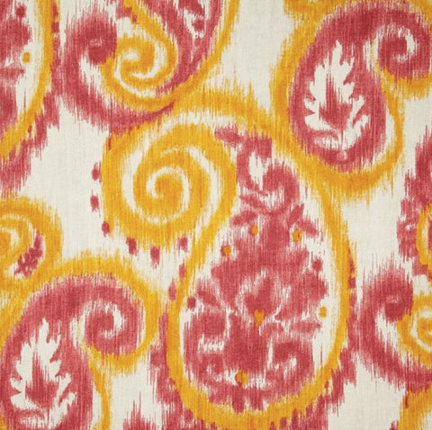 Carravagio Paisley Melon Decorator Fabric By Richloom, Drapery, Home Accent, TNT,  Savvy Swatch