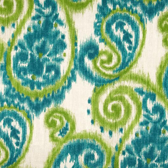 Carravagio Paisley Tourmaline Decorator Fabric By Richloom, Drapery, Home Accent, TNT,  Savvy Swatch