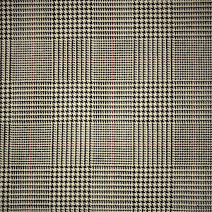 Clarence Houndstooth Plaid Wool Blend Fabric, Upholstery, Drapery, Home Accent, TNT,  Savvy Swatch