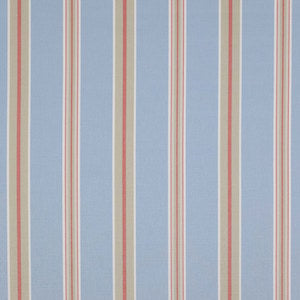 Porlock Stripe - J671F-04 in Blue/Red Decorator Fabric by Jane Churchill (2.5 yard bolt), Upholstery, Drapery, Home Accent, Jane Churchill,  Savvy Swatch