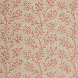 Coral Gardens in Coral Decorative Fabric by Textile Fabric Associates, Upholstery, Drapery, Home Accent, TFA,  Savvy Swatch