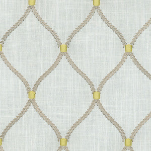 Greenhouse A9780 Smoke Williamsburg Smoke Deane Embroidery Fabric, Upholstery, Drapery, Home Accent, Greenhouse,  Savvy Swatch
