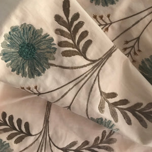 Dinah Spa Embroidered Fabric by TFA, Upholstery, Drapery, Home Accent, TFA,  Savvy Swatch