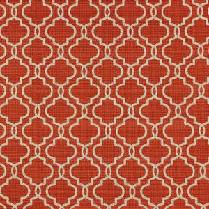 RICHLOOM FORTRESS ACRYLIC EXETER BRICK LATTICE INDOOR OUTDOOR UPHOLSTERY FABRIC, Upholstery, Drapery, Home Accent, TNT,  Savvy Swatch