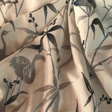 Flow of the Wind Marine Embroidery Flamingo Fabric by TFA, Upholstery, Drapery, Home Accent, TFA,  Savvy Swatch