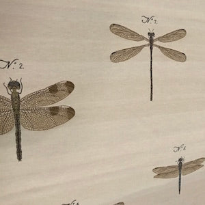 French Dragonfly Upholstery Fabric