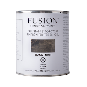 Black Gel Stain & Topcoat - Fusion Mineral Paint
