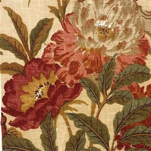 R1400.1 Giant Peony Terraco by G P & J Baker, Upholstery, Drapery, Home Accent, Premier Textiles,  Savvy Swatch
