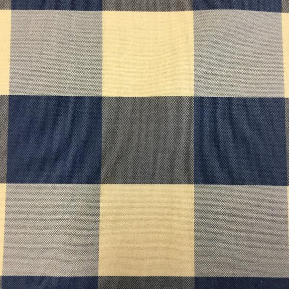 Al Fresco Altizer Harbour Check Blue High UV Woven Polyester Indoor/Outdoor Decorator Fabric, Upholstery, Drapery, Home Accent, Al Fresco,  Savvy Swatch